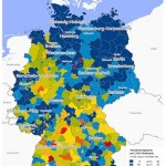 GfK's Map of the Month Industrial density, Germany