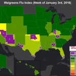 Map of The Day – Walgreens Flu Index for Week of Jan. 3, 2016