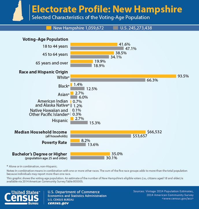 Demographic and Economic Profiles of New Hampshire's Electorate