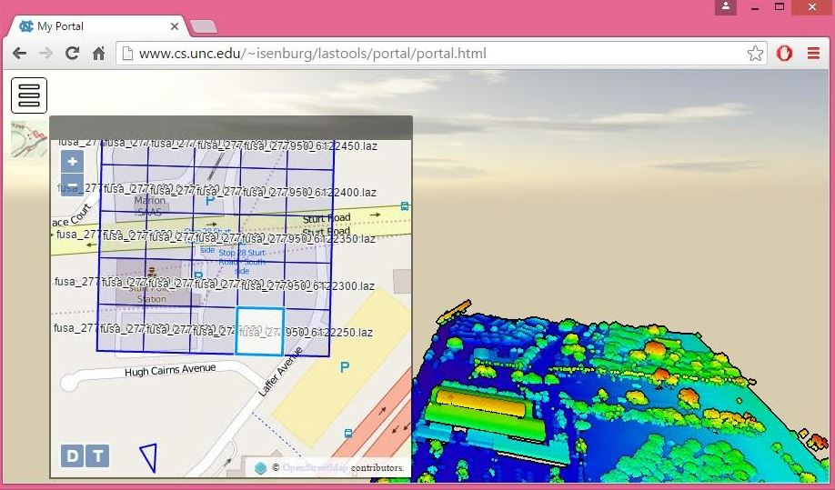 New 'laspublish' creates Web Portals for 3D Viewing and Downloading of LiDAR