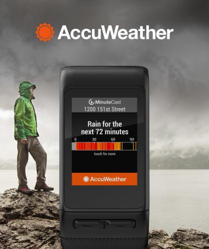 AccuWeather MinuteCast Available in All-New Garmin