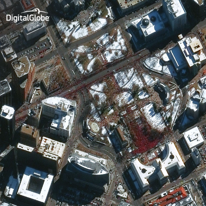 Super Bowl Parade from Denver, Colorado Seen From Space