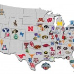 US College hoops map