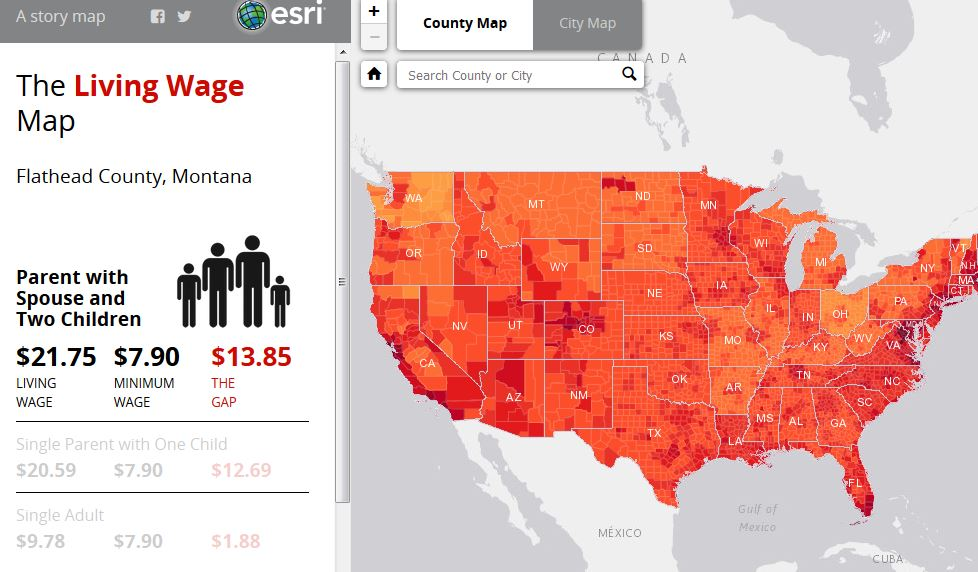 Map Of The Day The Living Wage Story Map