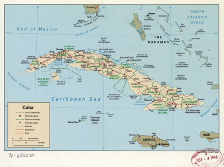 lecture on history of cuba through maps