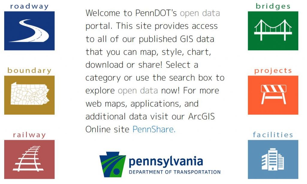 PennDOT's open data portal