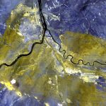 DigitalGlobe's WorldView-3 satellite of the Wildfire in Alberta Canada