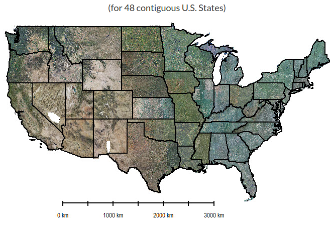 High-resolution (1 meter) Vegetation Mapping for 48 Contiguous U.S. States