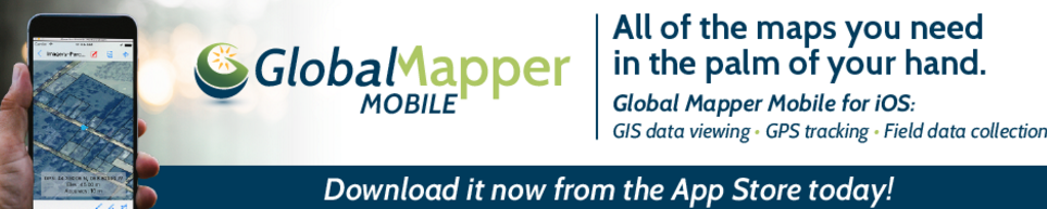 Global Mapper Mobile Now Available for iOS Devices