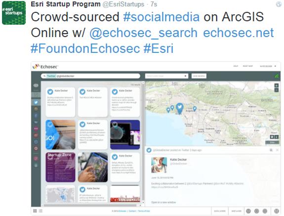 Echosec ArcGIS Marketplace Listing & Social Media Mapping Contest: #FoundOnEchosec