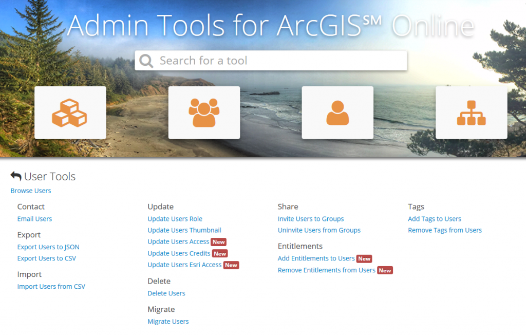 admin tools for arcgis online - GEO Jobe