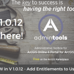 Esri Business Partner, GEO Jobe, Announces Release of Admin Tools V 1.0.12 in the ArcGIS Marketplace