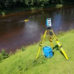 Robotic Riverbed Survey Vessel Tracked with FOCUS 35 Total Station