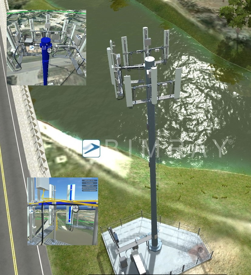 BIMRAY UAV Cell Tower Surveys Provide Complete Inspection, Structural Analyses and 3D CAD Modeling