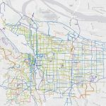 Portland's official city bike map – digital and interactive, created with ArcGIS WebAppbuilder