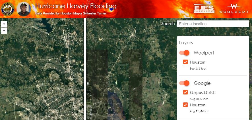 High-Resolution Flood Imagery on Website, App Today to Assist Houston Relief Efforts