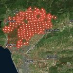 Esri interactive map of California fires