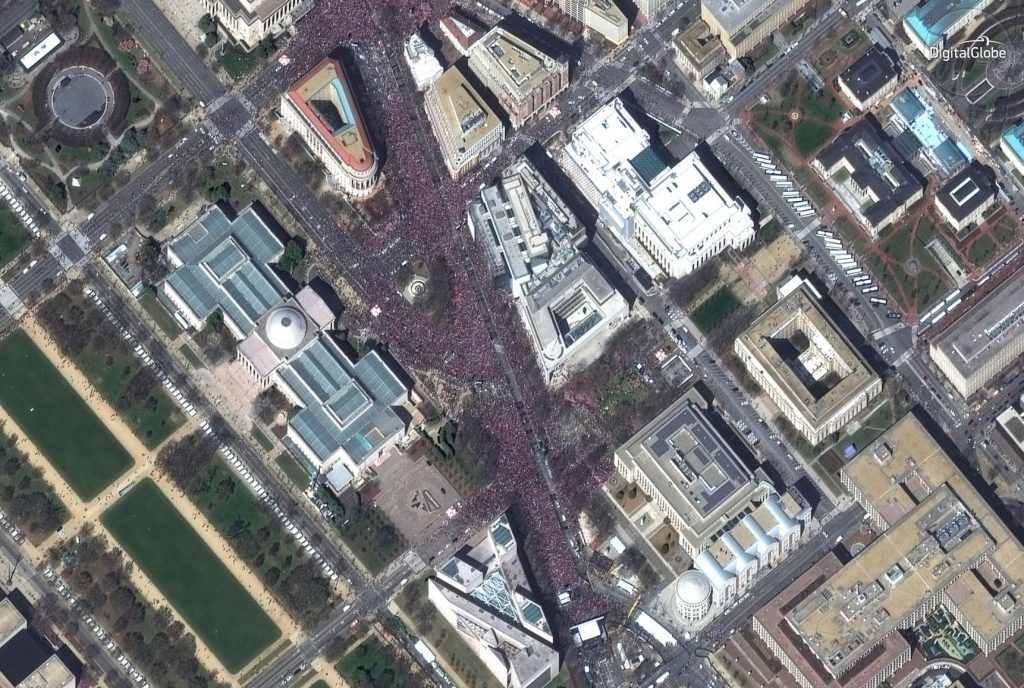 High-Resolution Satellite Images of the March for Our Live