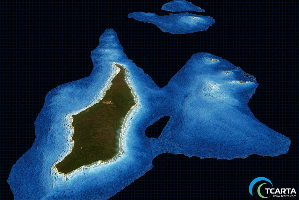 Satellite Derived Bathymetry (SDB) at a resolution of 10m.
