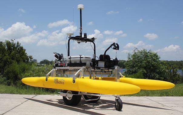 Echo81, the Autonomous Surface Vehicle allows for rapid post-hurricane response.