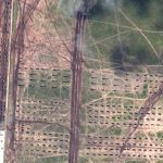 Artillery and armored vehicles (Digitalglobe)