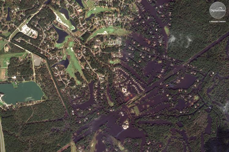 DigitalGlobe's September 20th Satellite Images of Flooding in North Carolina