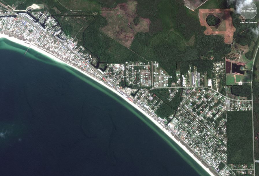 Satellite Imagery Hurricane Michael Aftermath In Mexico