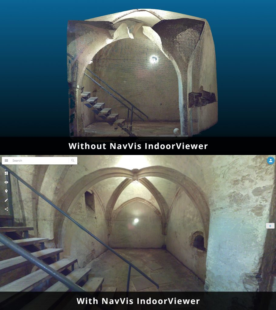NavVis IndoorViewer now converts static scans into immersive 360° imagery