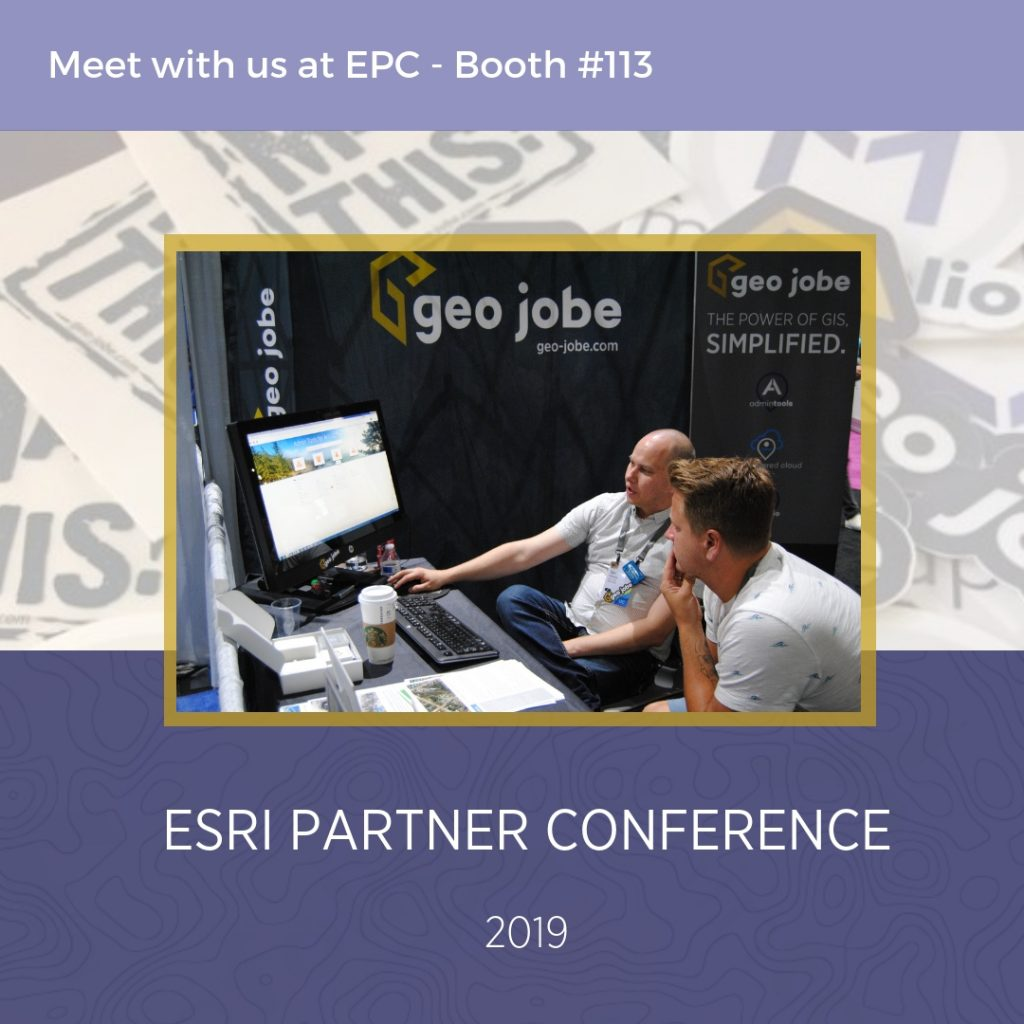 GEO Jobe will be showcasing ArcGIS solutions and apps, GEOPowered Cloud Managed Services