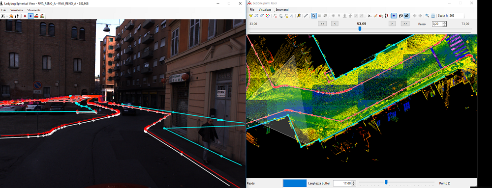 The Mobile Mapping System Road-Scanner for the first tram line in Bologna