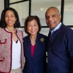 From left: Christina Lewis, Loida Lewis, Ken Chenault. Photo Credit: All Star Code