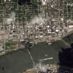 Maxar Technologies collected new satellite imagery of Davenport, Iowa flooding caused by the Mississippi River