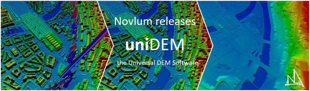 Novlum announces the release of uniDEM, a specialist software designed for Digital Elevation Model editing