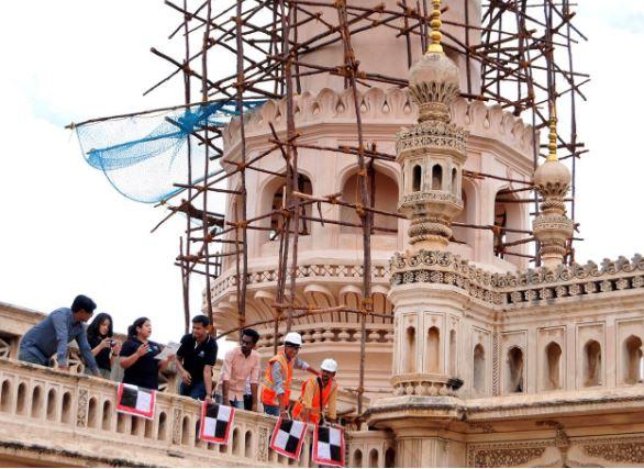 Team Terra Drone India at Charminar on Thursday, June 13, 2019