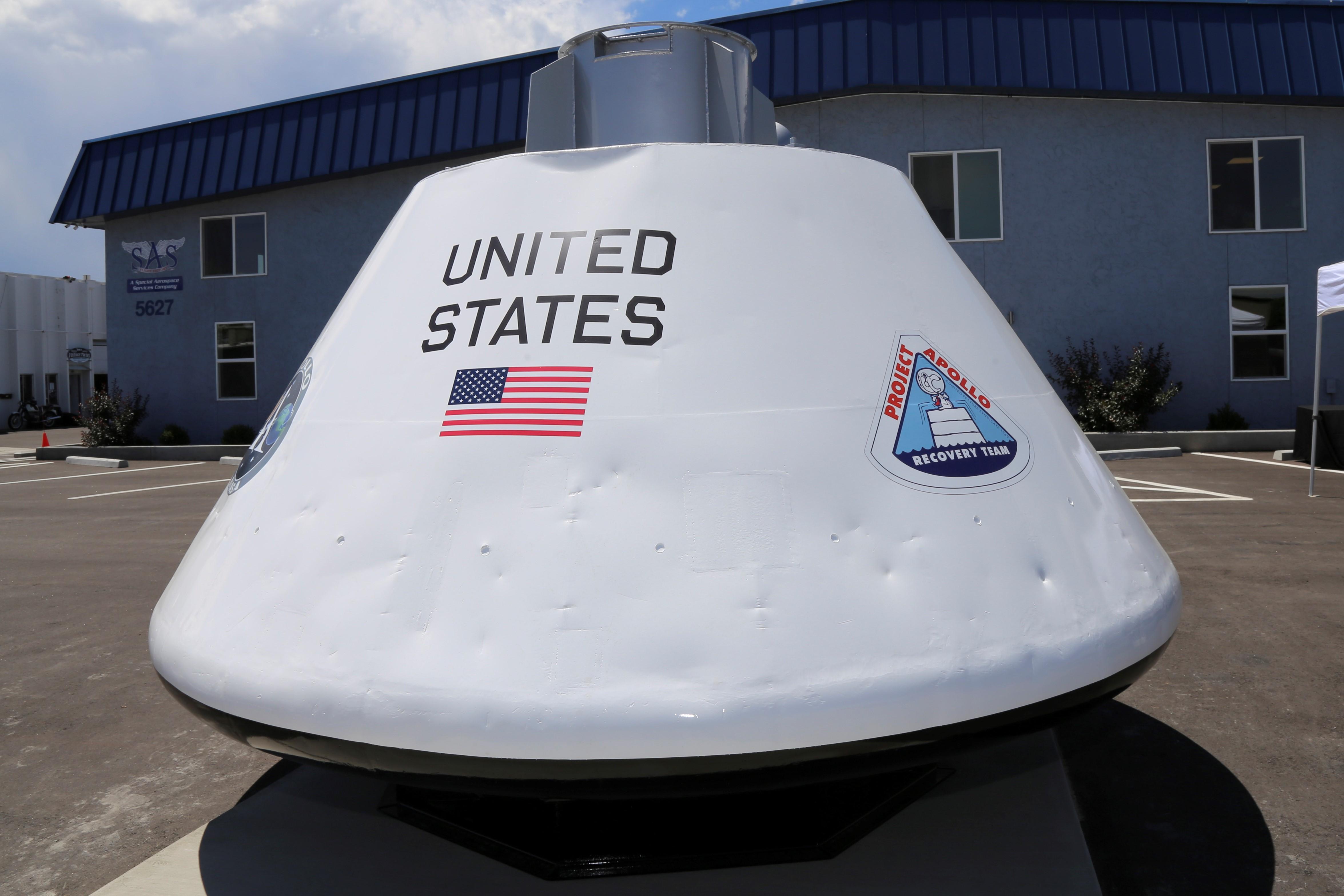 Special Aerospace Services Unveils Restored Apollo Test Capsule in