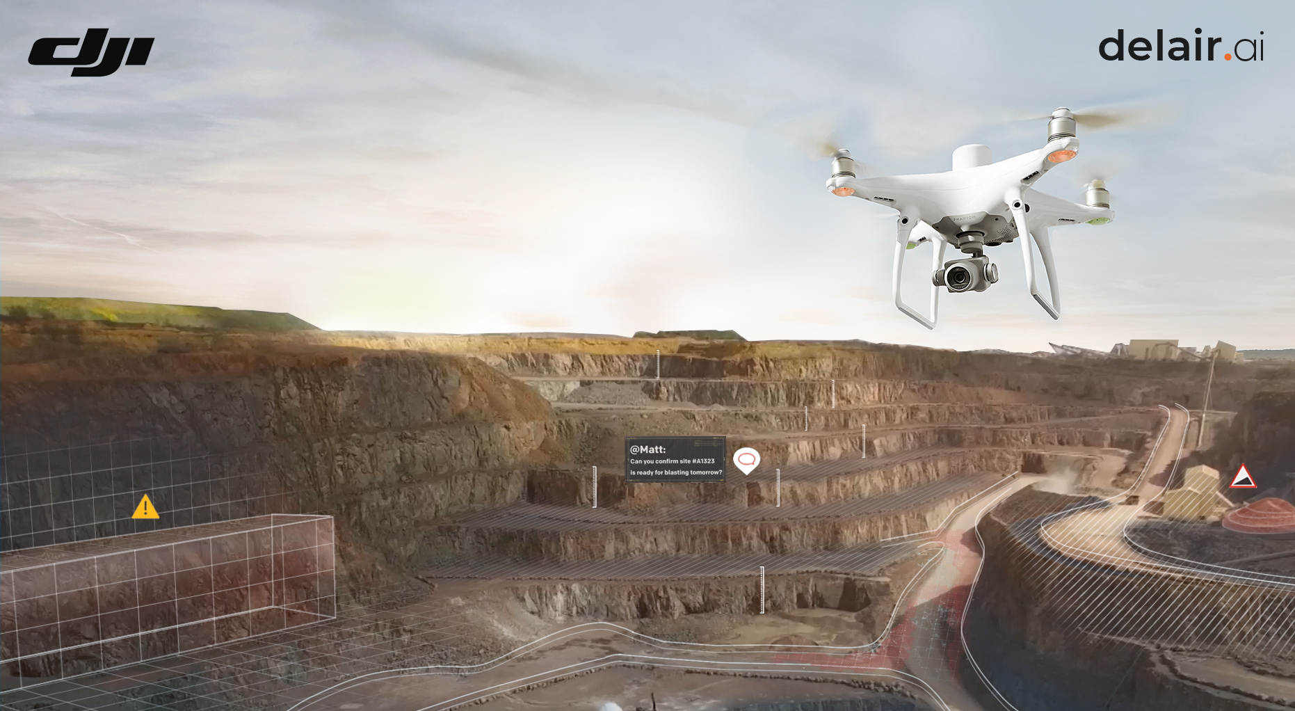 DJI and Delair partner to improve efficiency of commercial