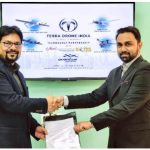 Sajid Mukhtar, CMD, Roter Group of Companies, with Prateek Srivastava (right), CEO, Terra Drone India