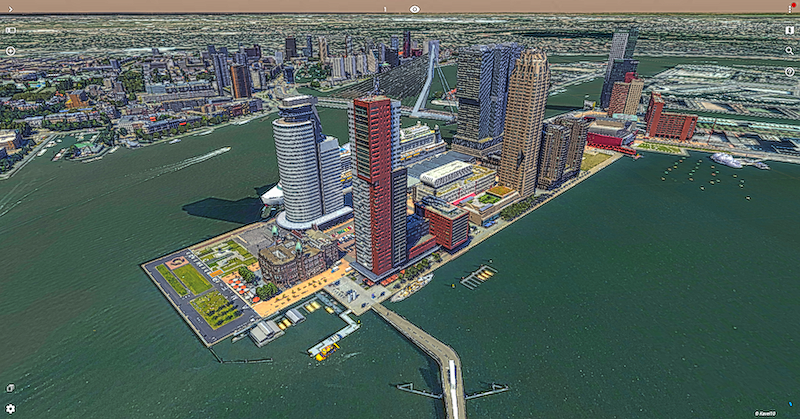 Portion of the Rotterdam 3D Model © Kavel 10, The Netherlands