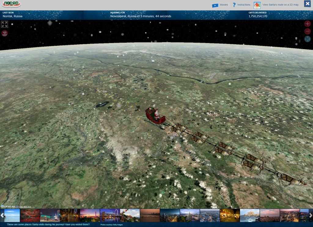 NORAD Tracks Santa program