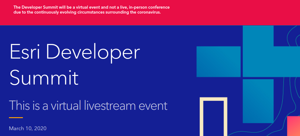 The Developer Summit will be a virtual event and not a live, in-person conference due to the continuously evolving circumstances surrounding the coronavirus.