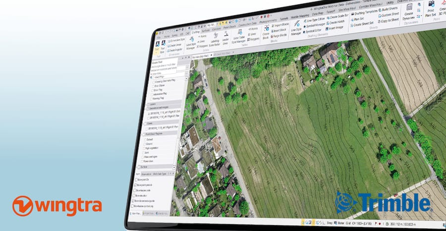 WingtraOne drone data is now compatible with Trimble Business Center