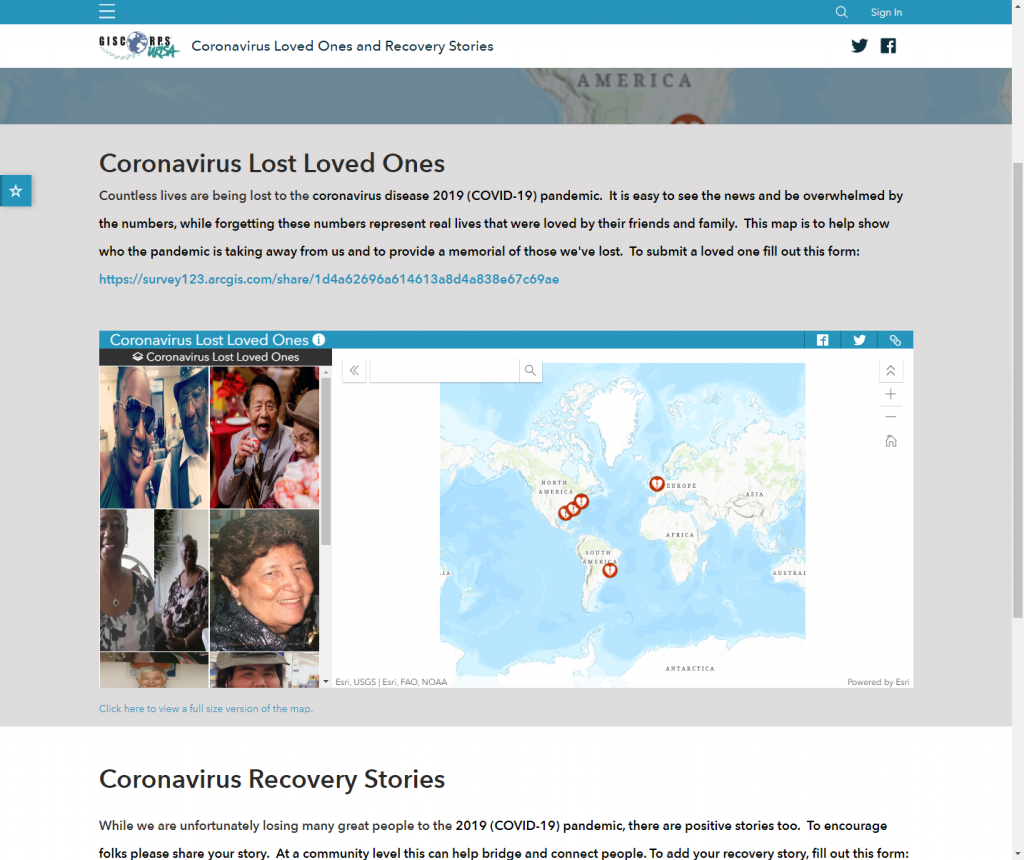 COVID-19 Lost Loved Ones and Recovery Stories Project