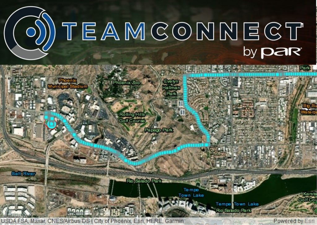 Location track reported by the Android Team Awareness Kit (ATAK) is recorded in TeamConnectTM by PAR and used for after action analysis using the Mission Replay feature.