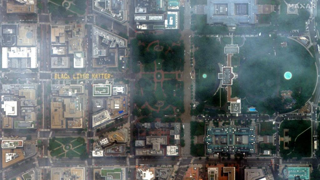 Satellite Imagery: Washington, DC and Black Lives Matter Street Mural