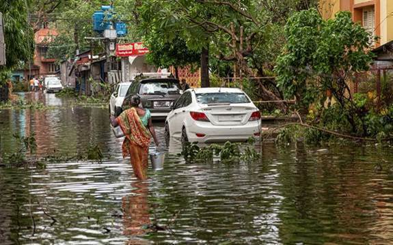 flooding caused by super-cyclone Amphan in Kolkata last month