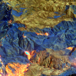 Maxar Satellite Imagery: Bobcat Wildfire, Northeast of Los Angeles