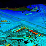 Colorized digital elevation model of International Airport in Pinellas County, Florida
