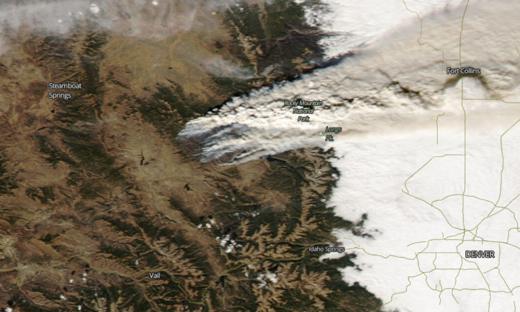 East Troublesome Wildfire Near Rocky Mountain National Park, Colorado