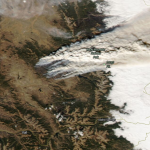 Satellite Imagery: East Troublesome Wildfire Near Rocky Mountain National Park, Colorado