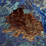 Satellite Imagery @Maxar : Southern California's Blue Ridge and Silverado Wildfires